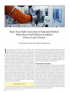 Real-Time Path Correction of Industrial Robots with Direct