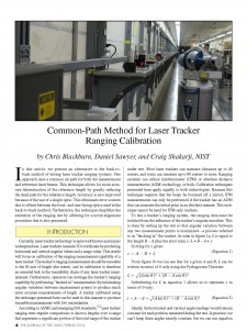 Common-Path Method for Laser Tracker Ranging Calibration